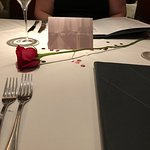 For our anniversary, they set the table up before we got there. Very nice!