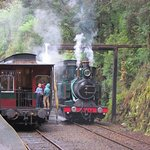 The steam train and our carriage, wonderful part of history.