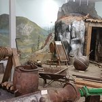 Old gold mine display