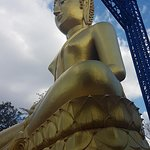 Its not till your up there you take in the gravity of how big this Buddha is.