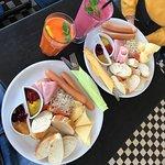 polish breakfast - carrot juice and banana strawberry juice