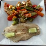 Pan Fried Fish & Veg Absolutely Delicious!