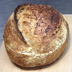 Sourdough bread made freshly on the premises using organic flour