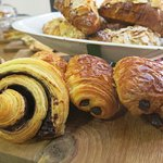 fresh viennoiserie made on the the premises