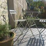 sun trap patio garden