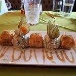 Baklava with pistachio ice cream - gorgeous.