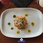 Filete de Chillo en Salsa de Mango con Puré de Yautía