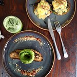 avo toast and zuccini with eggs