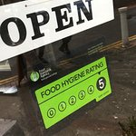 Food hygiene rating of 5 after an inspection by the council