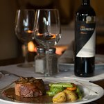 Filet Mignon. With our special mushroom gravy. Serve with spanish style fried potatoes, green be