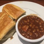 Cuban sandwich with beans