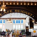 Cafe Beignet classic bar at Decatur Street