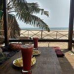 espléndida vista al mar mientras desayunás!