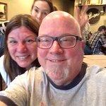 Cynthia photo-bombing our selfie, lol