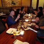 Our group dinner meeting.