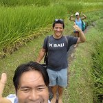 "walking through the rice terraces. agus' signature is ""THUMBS UP!"""