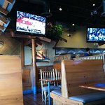 Sports bar style. Toronto game