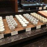 Dessert options at buffet