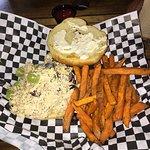 Chicken Salad Croissant Sandwich & Sweet Potato Fries