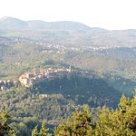 Village de Seggiano vue de la chambre