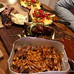 BBQ Platter for two, looks great but looks can be deceiving