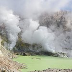 The PH of this crater lake is less than one!
