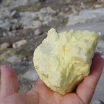 A lump of sulphur.