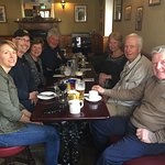 Celebrating a farewell dinner at the Knightly's Bar with family. All enjoyed a delightful meal,