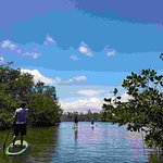 Paddle boarding in Piñones
