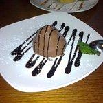 Beautifully presented Trufito dessert