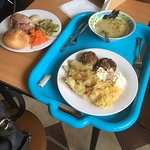 Food served in the old canteen style
