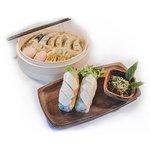 Dimsum set + 2 kpl of tofu summer rolls