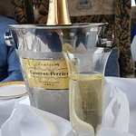 Bottle of Laurent-Perrier waiting in the table...