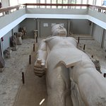 Large Ramses statue inside building