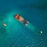 Kayak versus shipwreck