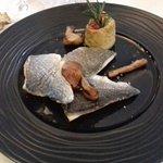 Filets de Daurade royale, Risotto crémeux aux Cèpes, Sauce Citronnelle et Gingembre