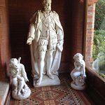 Statue of Disraeli inside front door