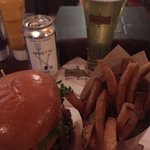 Chef's Burger and a Beer at Victoria Gastro Pub