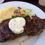 NEW YORK STRIP * A 12 oz. choice center-cut Certified Angus Beef ® strip steak—lean, tender a