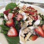 Chicken and strawberry salad.