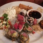 """My """"conservative"""" attempt at not over-eating this amazing sushi!"""