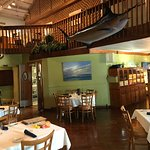 inside dining with marlin overhead