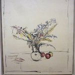 Giacometti exhib, 'Bouquet of Flowers and Three Apples', oil on canvas