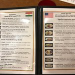 Appetizer and Lunch Menu pages