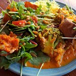 Vegan Vegetable Curry w/Pumpkin Avocado Salad