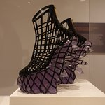 Ridiculous shoes from a large fashion exhibit