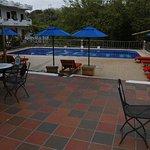 Zwembad en het terras