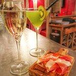 Coktail Kiwini, coupe de champagne