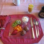 Fruit to start breakfast