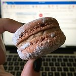 puppy chow macaron! as good as it looks.
